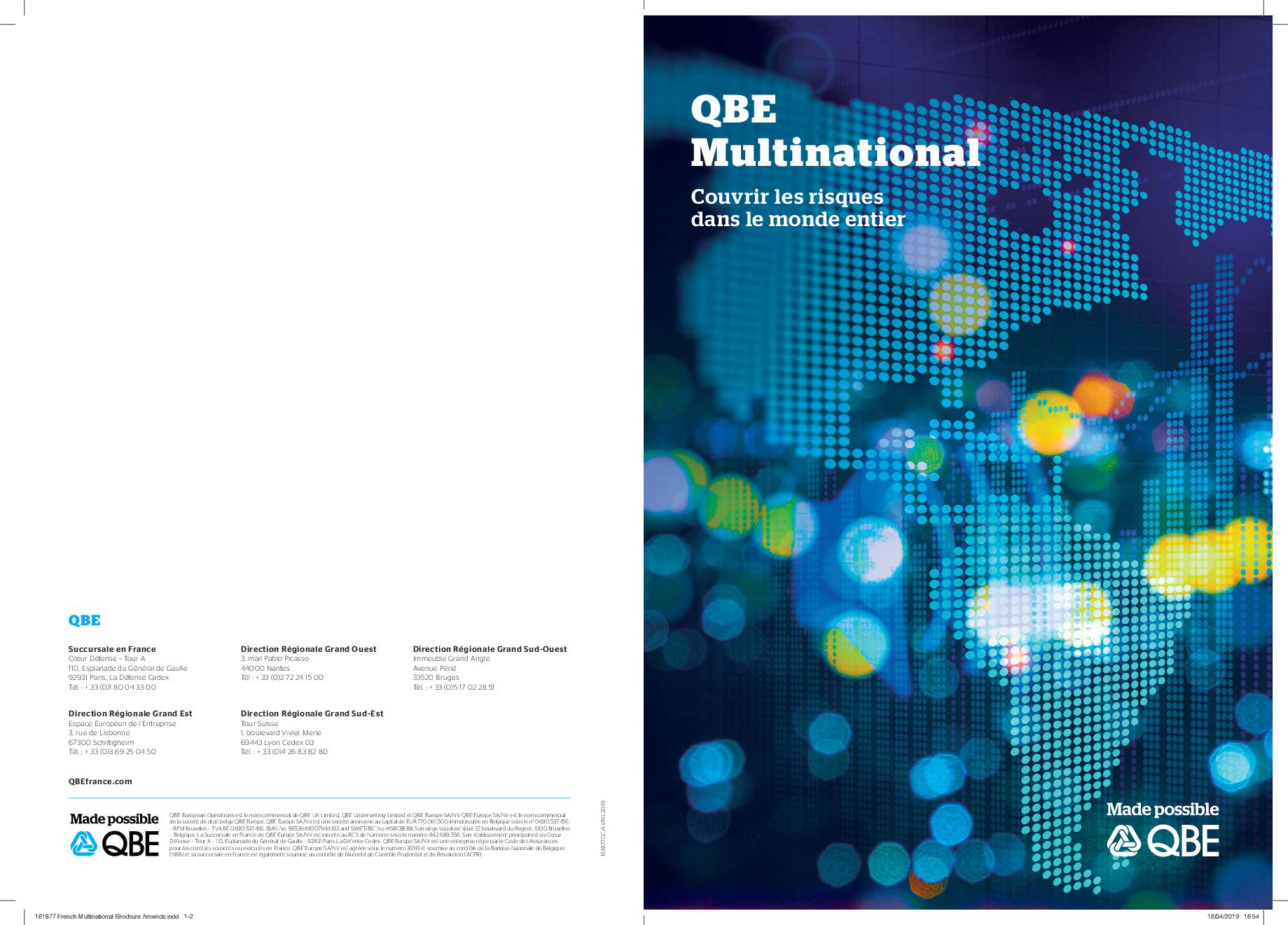 QBE Multinational plaquette